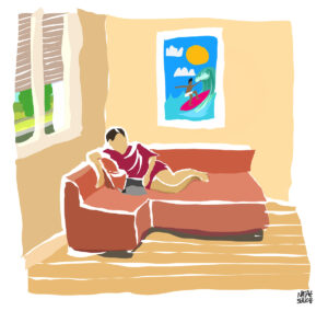 Illustration: loisir d'été