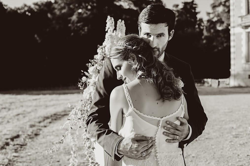 La séance de photos pour le couple au mariage