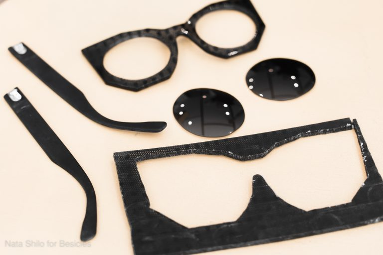 Creation de lunettes- reportage photos
