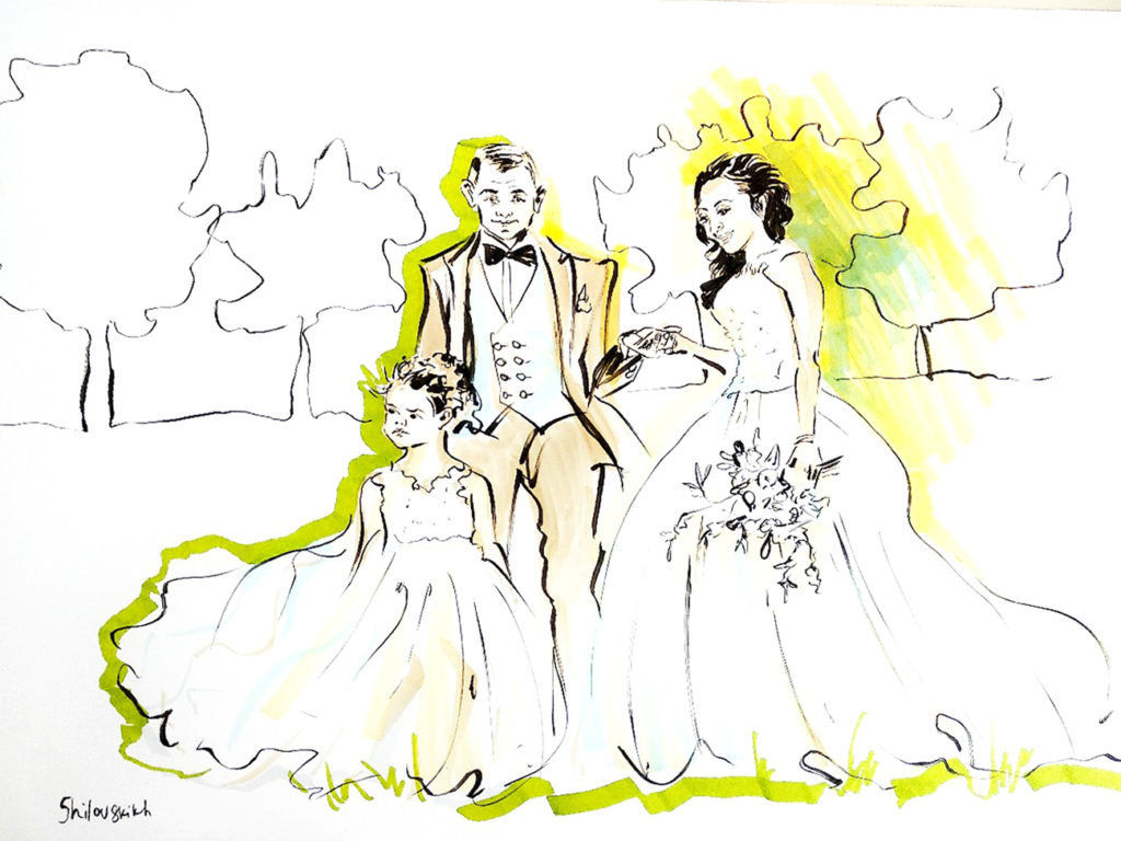 dessin mariage orleans